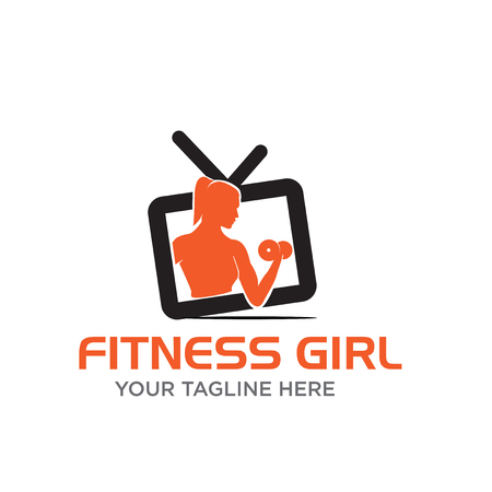 fitness girl channel logo designs