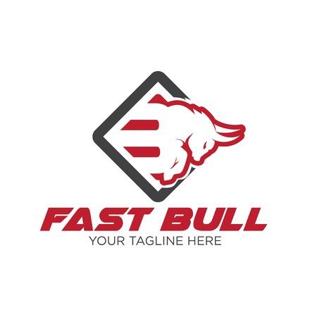 fast bull power logo designs Illusztráció