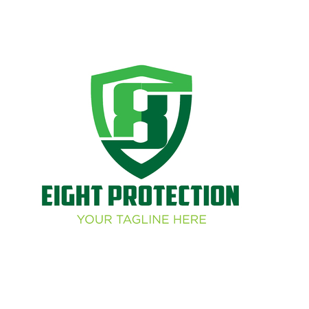 eight security logo designs Illustration