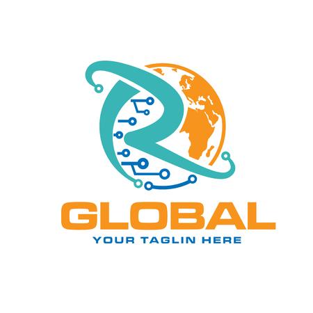 global circuit electric logo designs