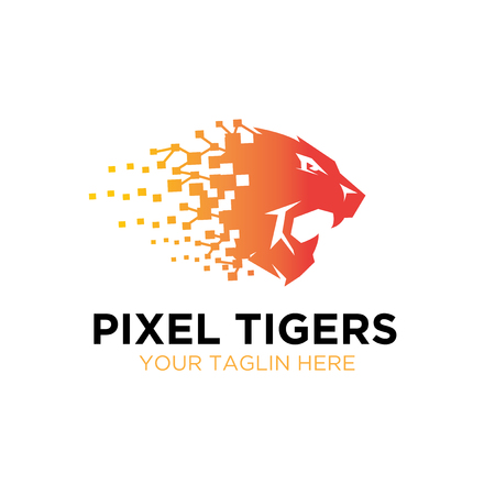 thought tiger roar logo designs Иллюстрация