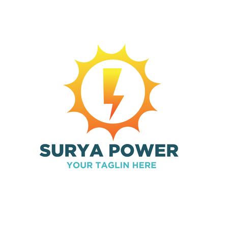 conceptions de logo de puissance surya Logo
