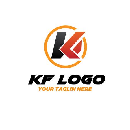 k f logo designs Illustration