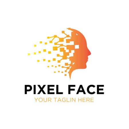 mind pixel logo designs Illustration