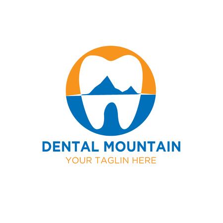 dental mountain logo designs
