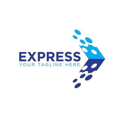 express sent courier logo designs
