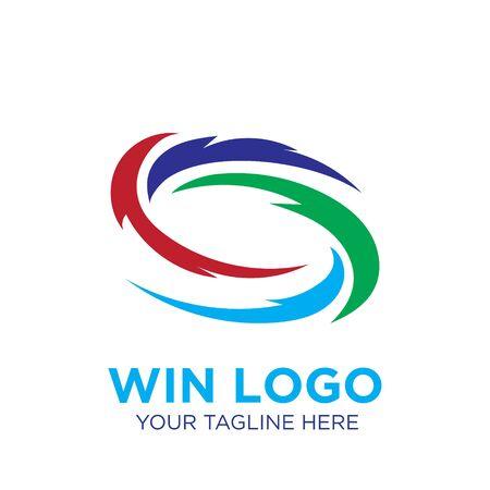 wind logo designs modern icon