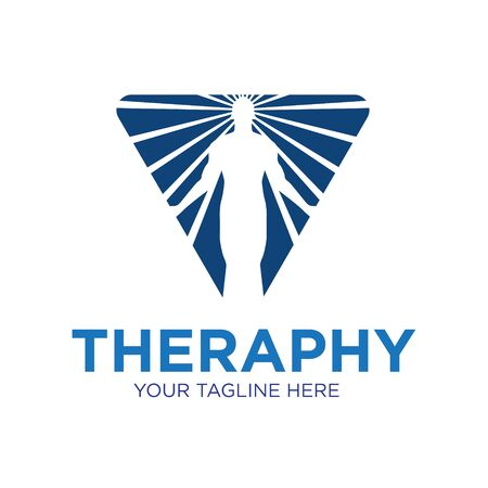 therapy health logo designs icon