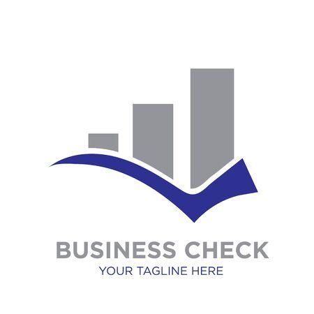 business check logo designs icon modern