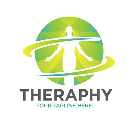 therapy health logo designs icon
