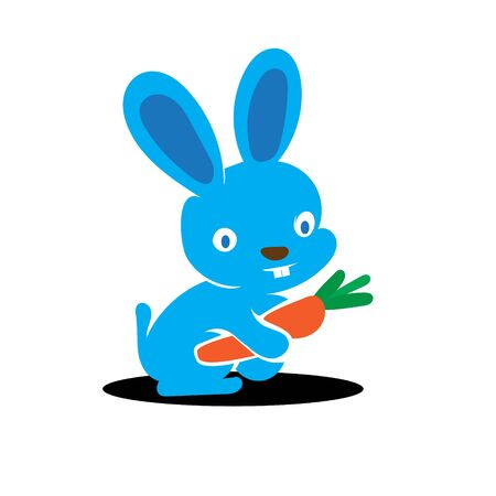 Bunny and Carrot Icon logo designs