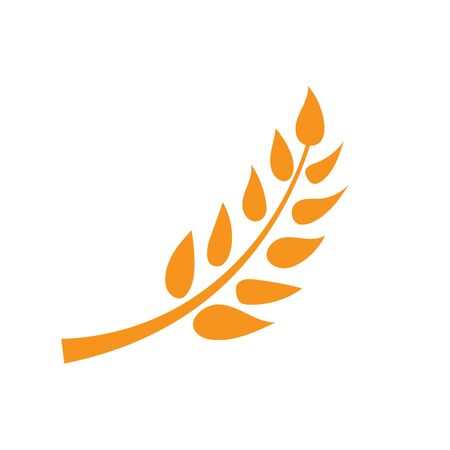 wheat and rice icon logo designs
