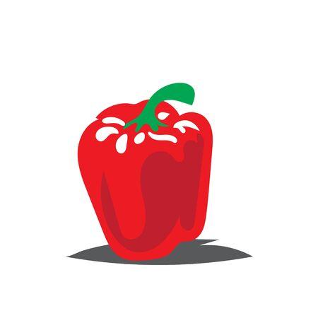 fresh paprika vegetables logo designs icon  イラスト・ベクター素材