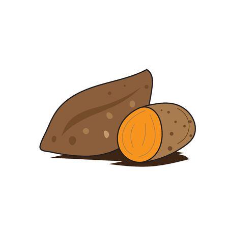 fresh yam vegetables logo designs icons