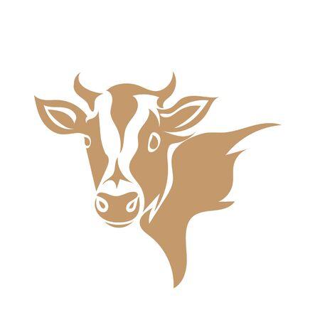 cow head animal icons  designs