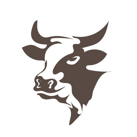 head cow animal  designs Stock Vector - 133140749