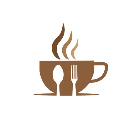 cup coffee and food  designs