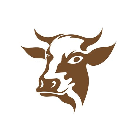 cow head animal icons  designs