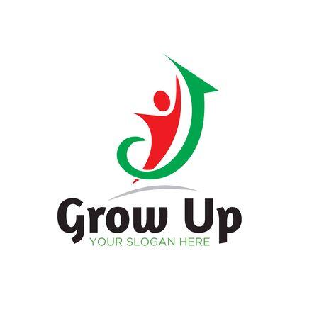 grow up business success logo designs