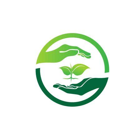 sauver les conceptions de logo vert du monde