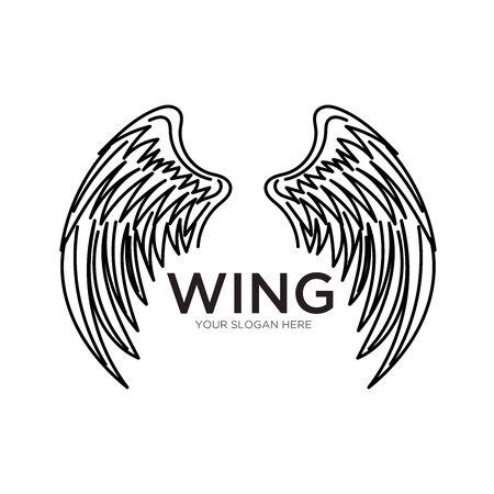 wing logo designs simple modern  イラスト・ベクター素材