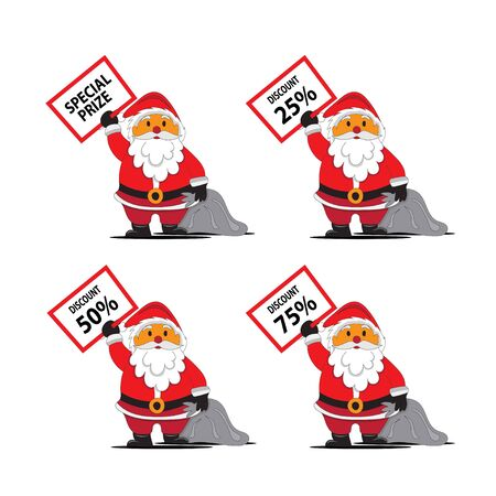santa claus greeting board on christmas