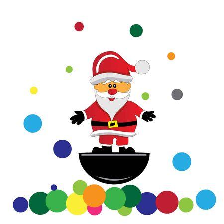 santa claus and balloons divide Christmas presents