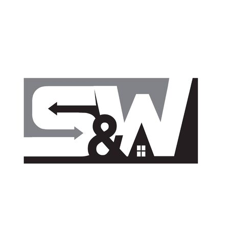 s w home construction logo designs modern