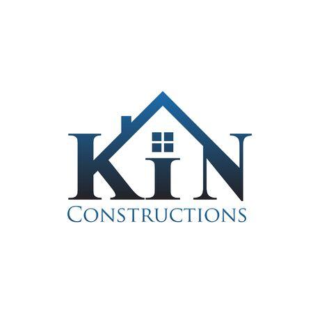K n construction logo designs modern