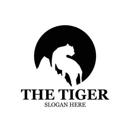 tiger and mountain logo designs simple