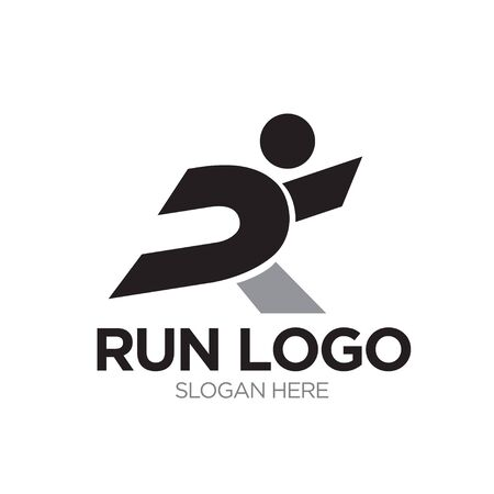 run logo designs modern and simple Illustration