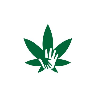 cbd hand help logo designs modern cannabis