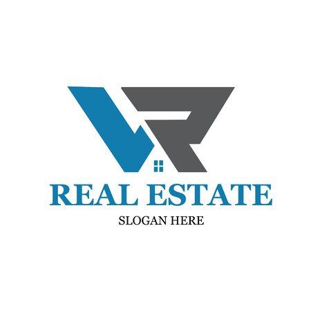 l r real estate logo designs modern simple