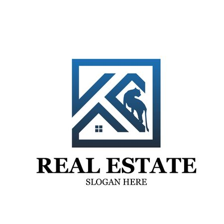 k real estate home building construction logo designs