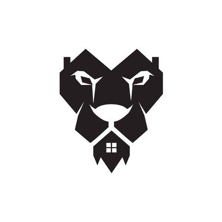 lion home real estate logo designs simple
