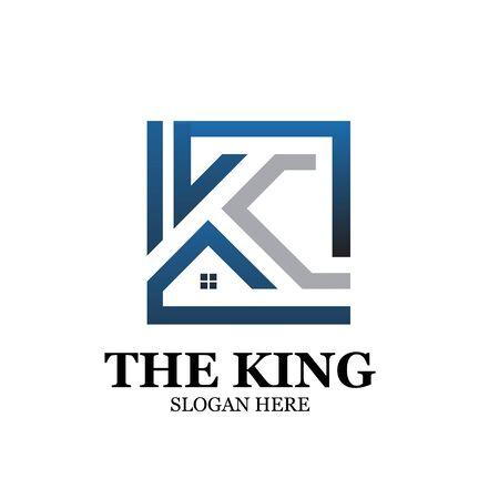 king real estate logo designs simple