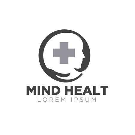 mind health logo designs simple modern care  イラスト・ベクター素材