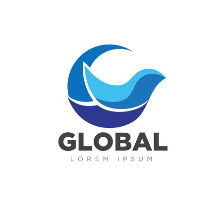global bird business service logo designs modern