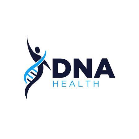 gen health life logo designs simple modern  イラスト・ベクター素材