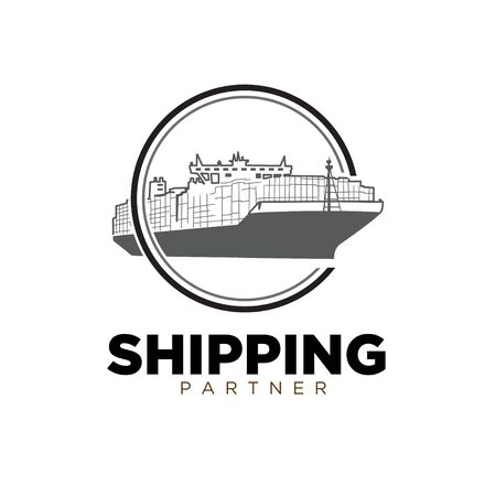 freight forwarding services throughout the world Stock Illustratie