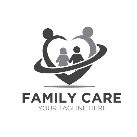 love family care logo designs simple modern Stock Vector - 150110926