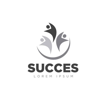 succes logo designs foundation scholl and ilustration