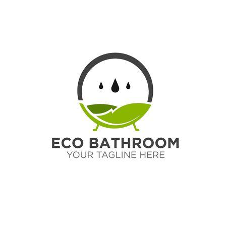 green eco natural bathroom logo designs modern