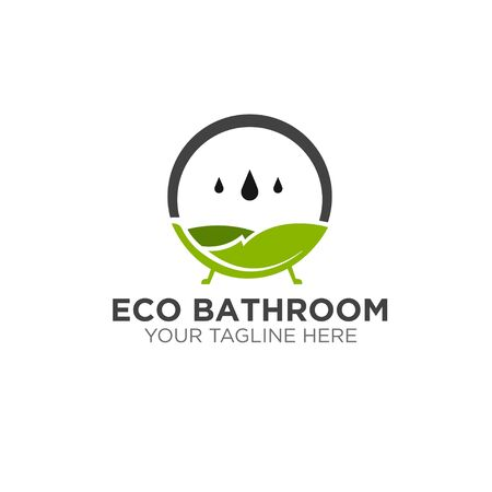 green eco natural bathroom logo designs modern