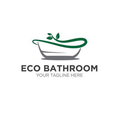 eco natural bathroom service logo designs simple