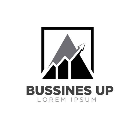 business grow up logo designs simple modern Stock Illustratie