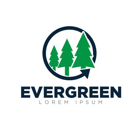 evergreen logo designs simple modern green color