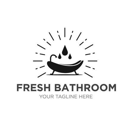 fresh bathroom logo designs modern service and simple