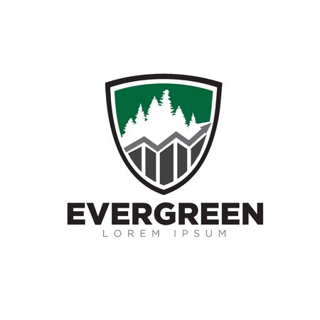 evergreen business grow up logo designs modern