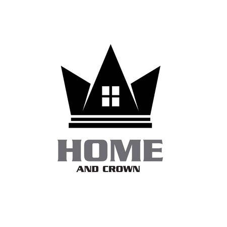 King Queen Crown House Real Estate Building Apartment Premium Elegant Luxury logo design Stock Vector - 150137819